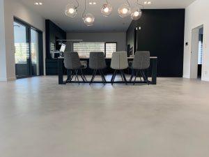 Salon cocina de lujo micro-cemento