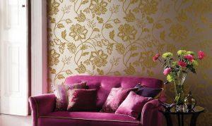 salon en donosti papel decorativo dorado